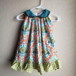 Persnickety Dress Size 5 Ruffle Boho Print
